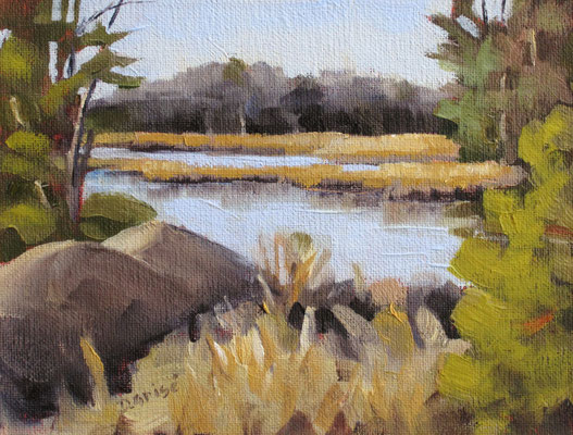 From Tobey's Bridge - Honey Harbour   -   8x6 oil - unframed   -    85.