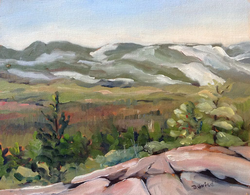 View From Granite Ridge - Killarney   -     12x16 oil     -   Currently showing at Orillia Museum of Art & History