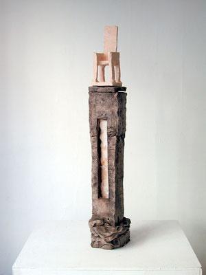 """LETZTE STUFE"", Ton, 92 x 22 x 16 cm, 2003"