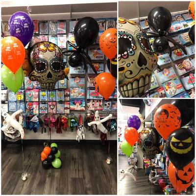 "Spinne 16,00€  3x 11"" Latexballons mit Gewicht, Geist: 13,00€ Folienballon mit12x5""  Ballons: 25,00€"