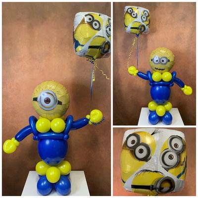 "Luftballonfigur ""Minions"" Preis: 29,00€ + Folienballon 45cm. 8,00€"