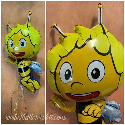 """""""Biene Maya"""" Folienballon inklusive Helium, Bänder und Gewicht. Preis: 17,00€"""