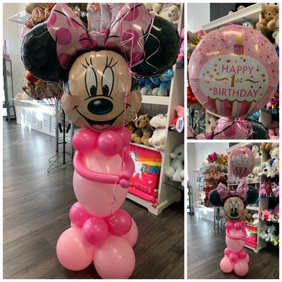 Minnie Maus Figur Preis: 26,00€ + Folienballon 7,00€ Bitte bestellen Sie min.2-3 Tage im Voraus.