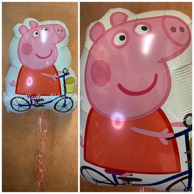 """""""Peppa Pig"""" Folienballon inklusive Helium, Bänder und Gewicht. Preis: 17,00€"""