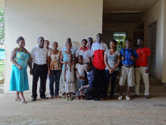 In Mampong konnten wir insgesamt 16 Leute versichern.