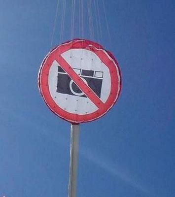 Verkehrsschild keine Fotos