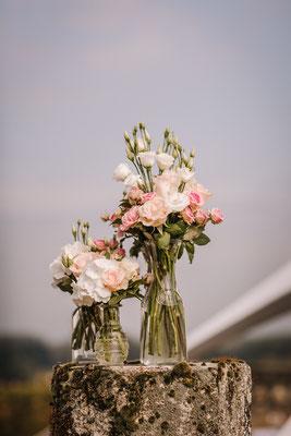 Ensemble de vases de différentes hauteurs 50 euros