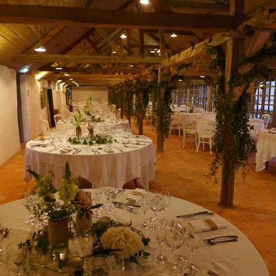 fleurs mariage au château de la Perrière