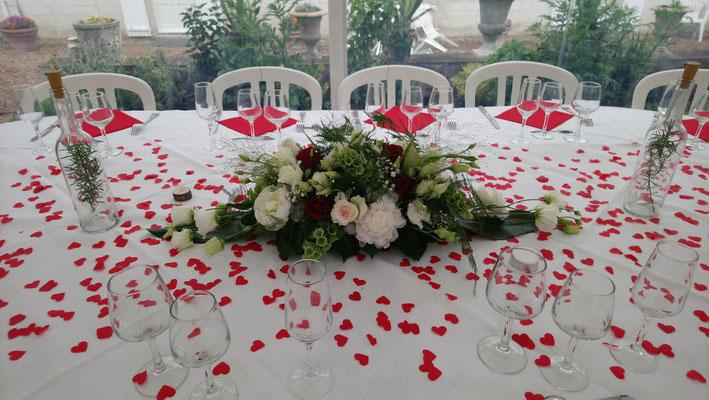 centre de table d'honneur de mariage 60 euros