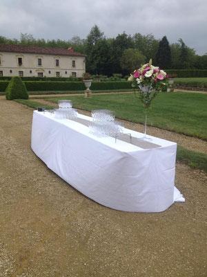 décoration fleurs vin d'honneur extérieur