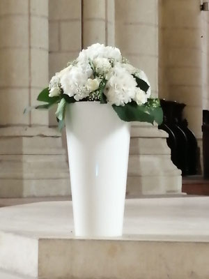 Composition Hortensias blanc 50 euros