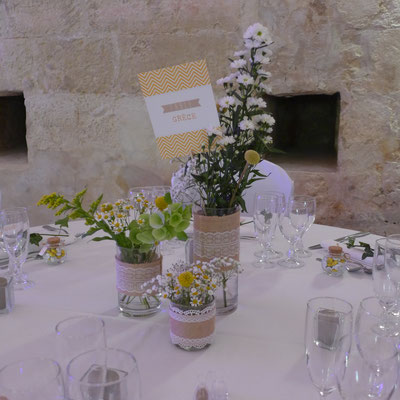 centre de table mariage 18 euros