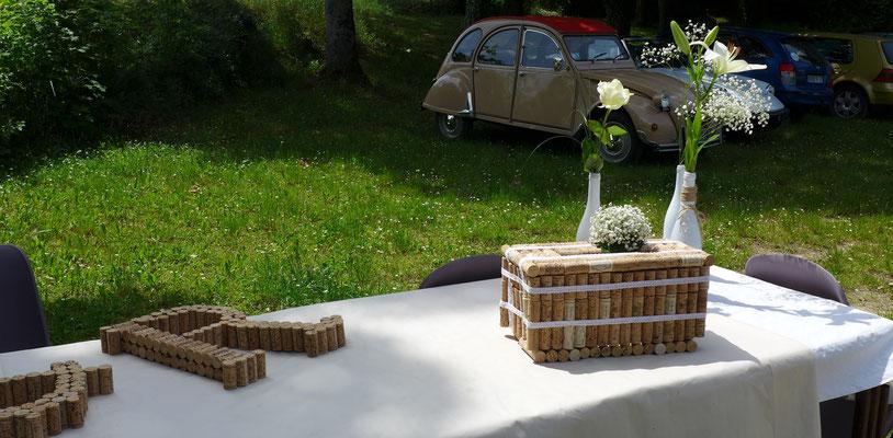 fleurs au vin d'honneur