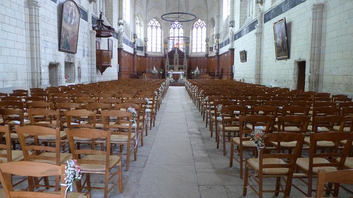 Décoration d'église Abbatiale de Montreil Bellay. Le Clos des Roses