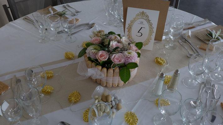 Charlotte aux fleurs 35 euros. le Clos des Roses