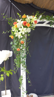 Panier de fleurs : 30 euros