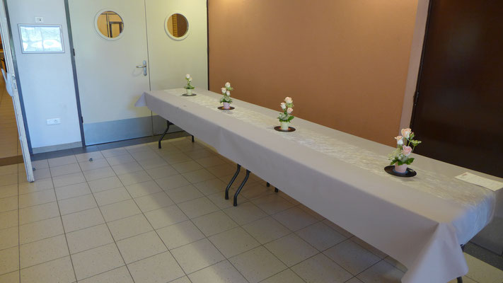 Décoration vin d'honneur. Petites compositions 8 euros