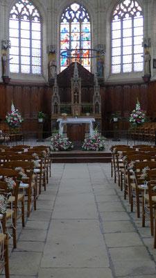 Bancs d'église avec roses 6 euros