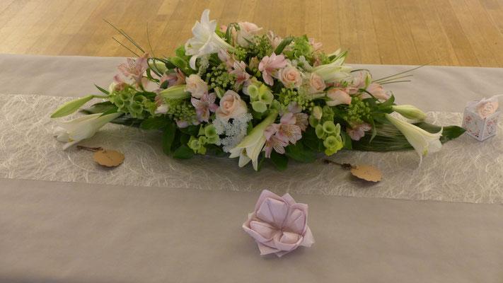 Centre de table d'honneur de mariage 50 euros