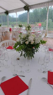 centre de table de mariage : bouquet champêtre 30 euros