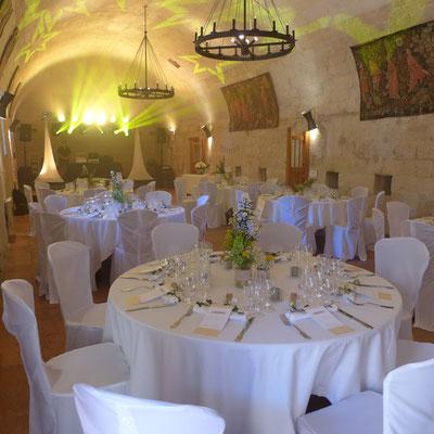 fleurs mariage au château de Brézé
