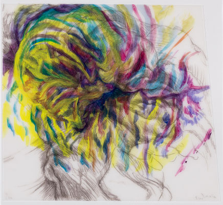 211 [Oil on Tracing paper, Conte, Pencil, 225x248mm, 2018]