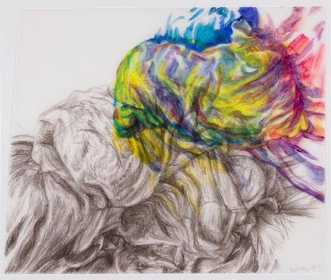 36 [Oil on Tracing paper, Conte, Pencil, 240x288mm, 2018]