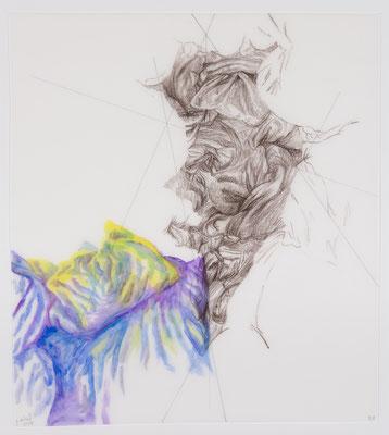 58 [Oil on Tracing paper, Conte, Pencil, 355x314mm, 2018]