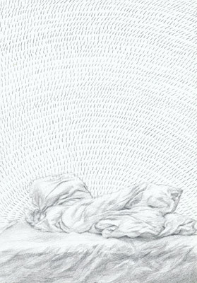 Sketch for Swirl-Daily scene(Awake) [Paper, Pencil, ~20x13cm, 2007]