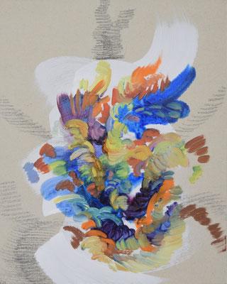 623  [Oil on paper, Gesso, Pencil, 25x17.7cm, 2019]