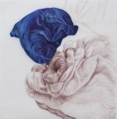116 [Oil on Tracing paper, Colour pencil, 303x298mm, 2017]