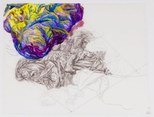915 [Oil on Tracing paper, Conte, Pencil, 348x461mm, 2018]