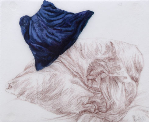 115 [Oil on Tracing paper, Colour pencil, 165x200mm, 2017]
