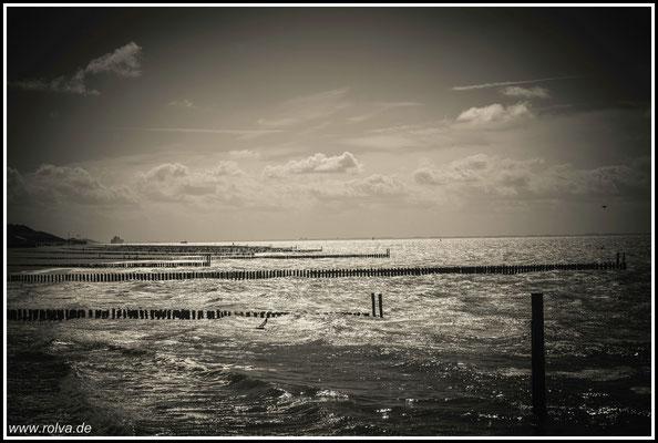 Brandung # Meer # Schwarz Weiss