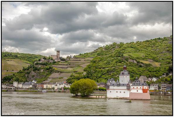 Pfalz Grafenstein#Burg Gutenfels#Rhein#Kaub