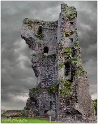 Burg Regnéville#Niederungsburg#Donjons#Wohnturm#Wehrtur# Ruine