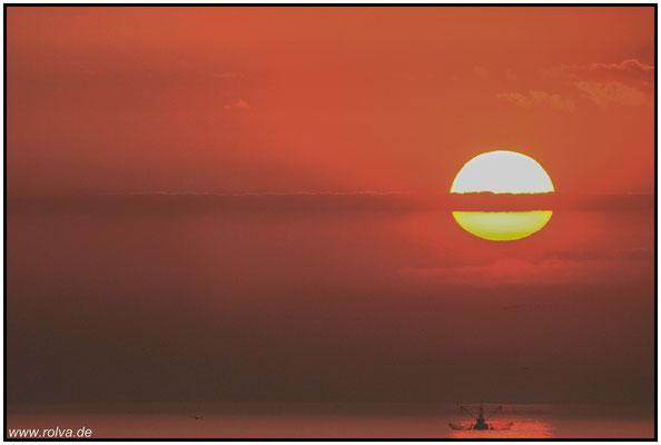 Sonnenuntergang#Normandie#Vargeniville sur meer
