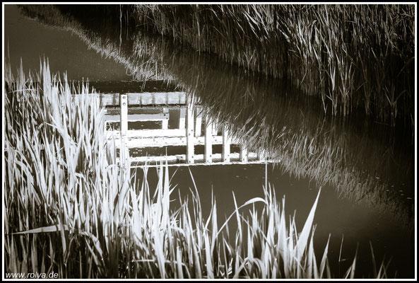 Spiegelung # Brücke # Schwarz Weiss