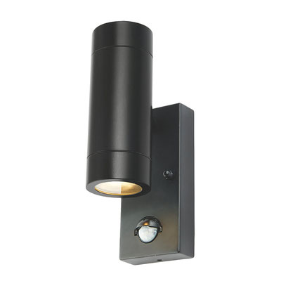 Up Down Light Black with PIR