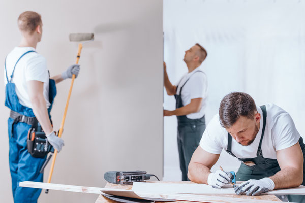 Die Malerarbeiten beim Messie können wir auch übernehmen