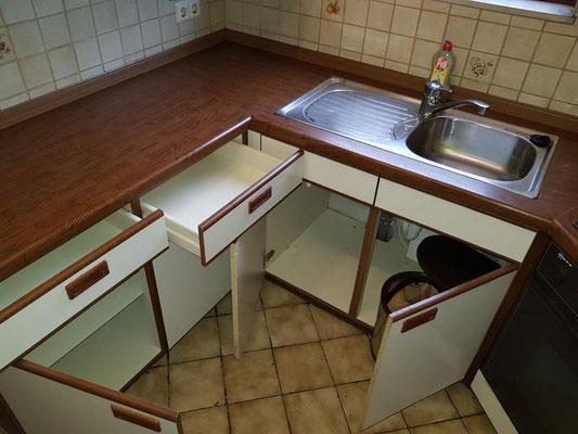 Nach der Wohnungs-Küchenreinigung
