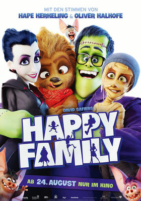 Feature Film  Happy Family (2017)  -> My work:  Character Animation  Prop Animation  Animatic  Actionsequences  Camera  Previz-sets