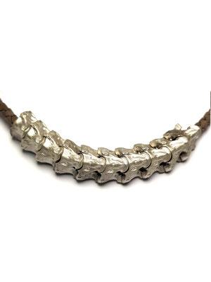 Wirbelkette Python in Silber