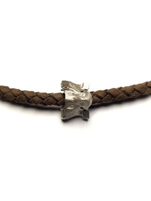 Python Schlangenwirbel in Silber