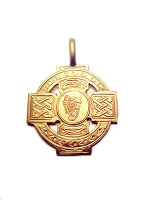 Anhänger Irisches Keltenkreuz Bronze