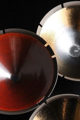 黒陶線条鉢 φ24cm
