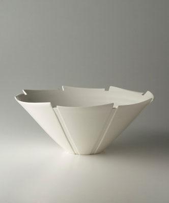 白磁線条鉢  φ30cm