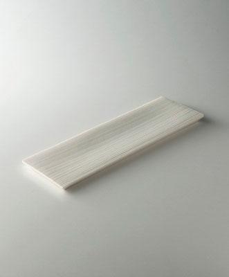 白磁木目長皿 w 31cm