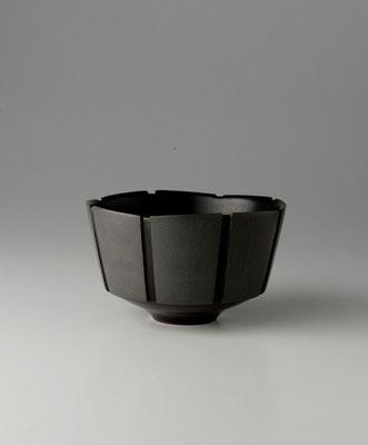 黒陶線条碗 φ12cm