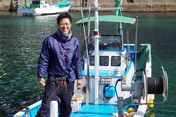 熊野市で漁師になられた方です。